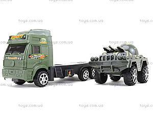 Игрушечный грузовик с военной техникой, 5359-12A, цена