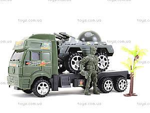 Игрушечный грузовик с военной техникой, 5359-12A, игрушки