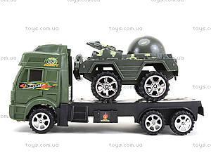 Игрушечный грузовик с военной техникой, 5359-12A, детские игрушки