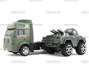 Игрушечный грузовик с военной техникой, 5359-12A, магазин игрушек