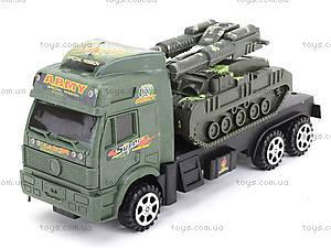 Инерционный грузовик с техникой, 5359-8A, магазин игрушек