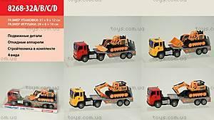 Инерционный грузовик со стройтехникой, 8268-32ABCD