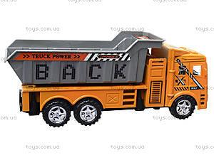 Инерционный грузовик с откидным кузовом, 6609, игрушки