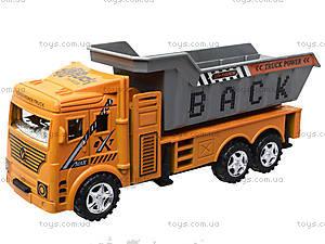 Инерционный грузовик с откидным кузовом, 6609, детские игрушки