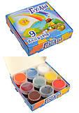 Гуаш 9 цветов 10 мл (110 гр.), 5 наборов в упаковке, ТЕ292, детские игрушки