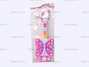 Детская музыкальная гитара в форме бабочки, 663, toys