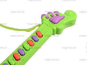 Игрушечная гитара со звуковыми эффектами, 3939-29, фото