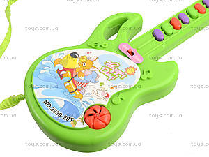 Игрушечная гитара со звуковыми эффектами, 3939-29, цена