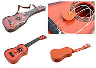 Гитара с ремешком, 2 цвета микс, в чехле, 77-02E