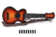 Гитара струнная в чехле игрушечная, 530-5, купить