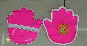 Игра «Перчатка+мяч», розовая, W02-263