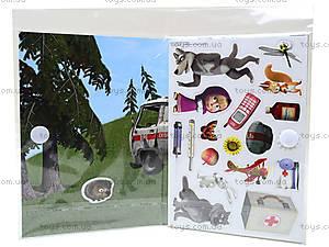 Игра с мягкими наклейками «Маша и Медведь», VT4206-1920, купить