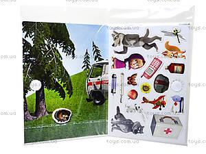 Игра с мягкими наклейками «Маша и Медведь», VT4206-1920, магазин игрушек