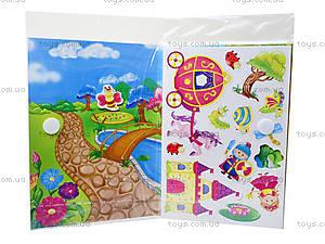 Игра с мягкими наклейками «Принцесса и рыцарь», VT4206-17, toys.com.ua