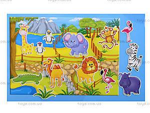 Игра с мягкими наклейками «Зоопарк», VT4206-18, фото