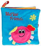 Книжка мягкая «Цветной океан», 68/017, toys