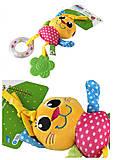 Развивающая игрушка-подвеска «Котенок» , ZBAKS, іграшки
