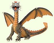 Игровая фигурка «Дракон» оранжевый, 75595, фото