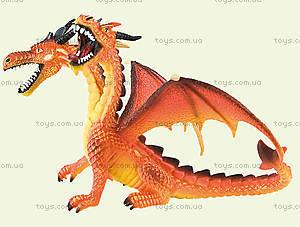 Игровая фигурка «Двухголовый дракон» оранжевый, 75598