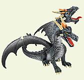 Игровая фигурка «Двухголовый дракон» серебристый, 75597, фото