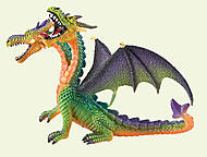 Игровая фигурка «Двухголовый дракон» зеленый, 75596, купить