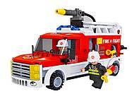 Игровой конструктор «Пожарная машина», 21502, детские игрушки