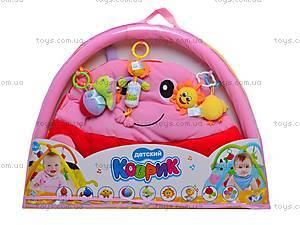 Игровой коврик с погремушками, 898-34B, детские игрушки