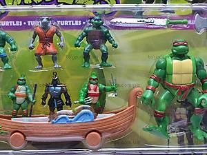 Игровой набор «Черепашки-ниндзя», 7 героев, 09104, купить