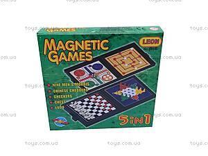 Игровой набор на магнитах, 5 в 1 , 6854, детские игрушки