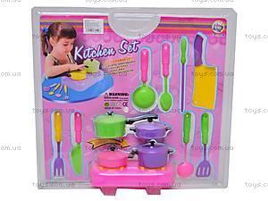 Игровой набор «Плита и посуда», 910C, фото