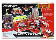 Игровой набор «Пожарная станция» с машиной, 28361, игрушки
