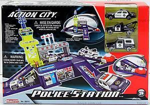 Игровой набор с 3 машинами «Полицейский участок», 28531