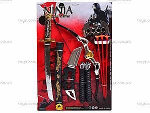 Игровой набор с нунчаками «Ниндзя», 8418, фото
