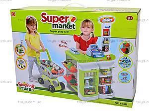 Игровой набор «Супермаркет», с тачкой, 668B, фото