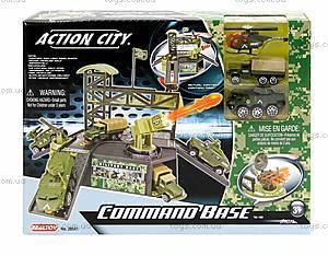 Игровой набор «Военная база» с машинками, 28541
