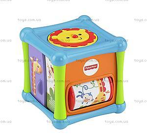 Игровой кубик со зверушками Fisher-Price, BFH80, цена