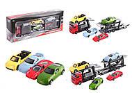 Игровой набор с трейлером и машинками, CT-1240WB, детские игрушки