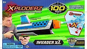 Игровой набор Xploderz X3 Invader c мишенью, 46025T, фото