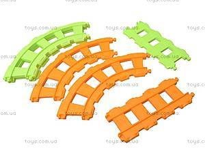 Игрушечная железная дорога «Веселый паровозик», 65125, фото