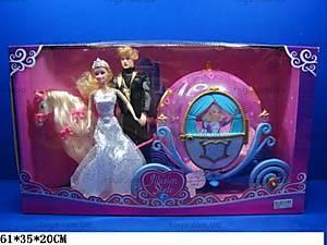 Игрушечная карета, с куклами, 28911A