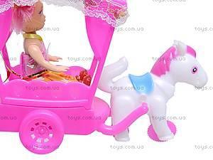 Игрушечная карета с куклой, 0919D, цена