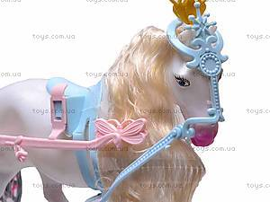 Игрушечная карета с лошадью и куклой, 83063, фото