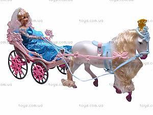 Игрушечная карета с лошадью и куклой, 83063