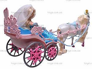Игрушечная карета с лошадью и куклой, 83063, цена