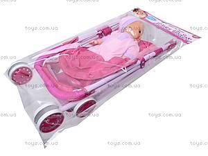 Игрушечная коляска с куклой, 9609A-1