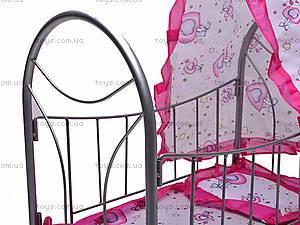 Игрушечная кровать, с балдахином, 9394, фото