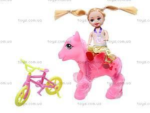 Игрушечная кукла с лошадью и аксессуарами, 8812, игрушки