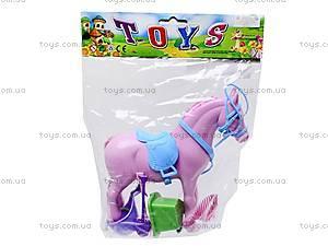 Игрушечная лошадь с аксессуарами, 686-607, игрушки