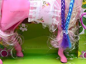 Игрушечная лошадка с куколкой, 6685, купить
