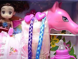 Игрушечная лошадка с куколкой, 6685, фото